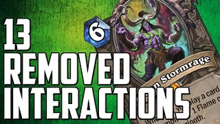 13 Removed Interactions With Illidan Stormrage | Hearthstone Ashes of Outland