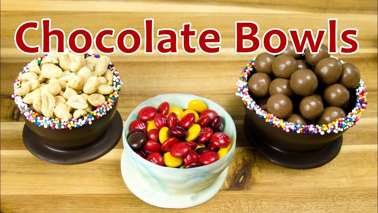 How To Make A Chocolate Bowl With Balloon