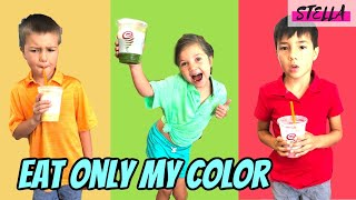 EATING ONLY 1 COLOR for 24 HOURS