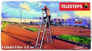 Обзор телескопической лестницы-стремянки TELESTEPS Combi Line 3,0 m