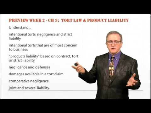 Chapter 3:  Torts and Product Liability