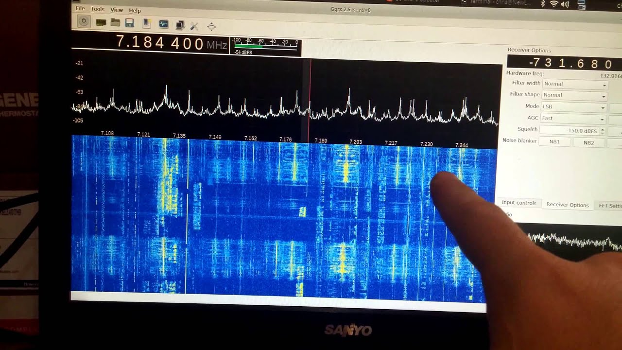 NooElec SDR 1 Mhz to 1750 Mhz on Linux by Christopher Farms