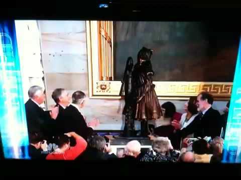 Helen Keller statue unveiling