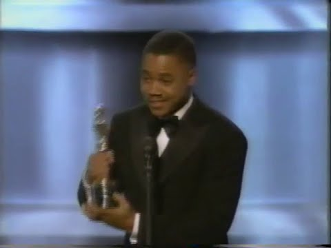 Cuba Gooding Jr. winning Best Supporting Actor for Jerry Maguire