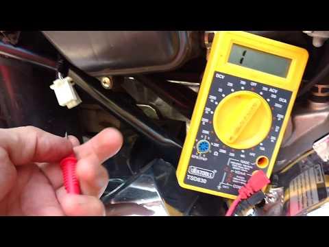 Como Medir con tester sistema AC  alimentacion CDI moto china