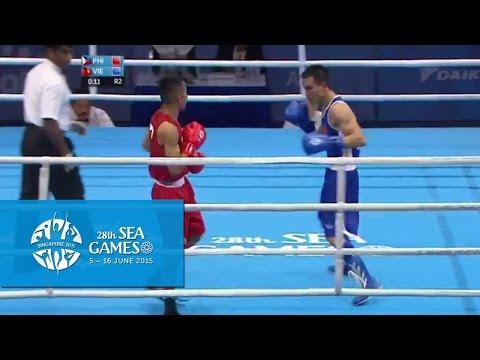 Boxing (Day 2) Men's Bantam Weight (52kg-56kg) Quarterfinals Bout 33 | 28th SEA Games Singapore 2015