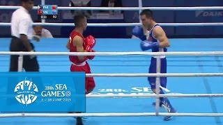 Boxing (Day 2) Men's Bantam Weight (52kg-56kg) Quarterfinals Bout 33   28th SEA Games Singapore 2015