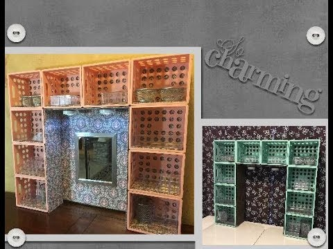 DIY Dollar Tree/Walmart Desk or Dresser Hutch/Vanity