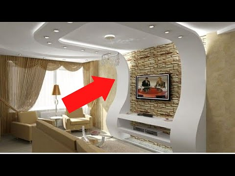 видео: Портал под телевизор из гипсокартона (монтаж)
