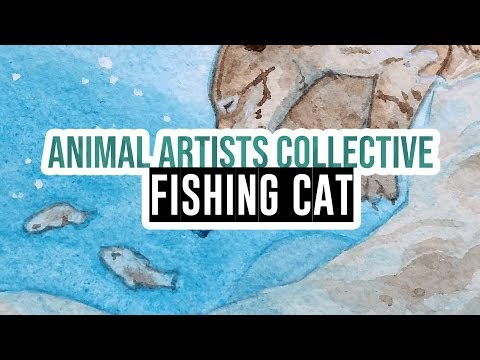 Animal Artists Collective - Wetlands & Rivers: the fishing cat!