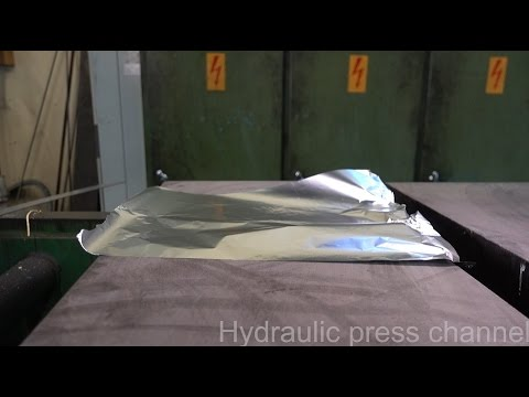 Folding aluminum foil with hydraulic press