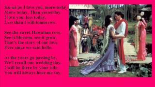 Original Style Love Song 2 - for wedding, Hawaiian wedding love song, Ku-uipo