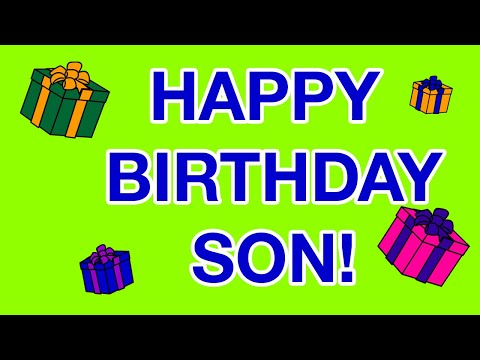 happy birthday SON birthday cards YouTube – Happy Birthday Card Son