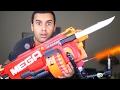 MOST DANGEROUS TOY OF ALL TIME 3.0!! (EXTREME NERF GUN / ZING BOW EDITION!!) FLAMETHROWER & BAYONET