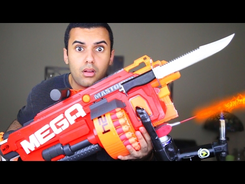 Thumbnail: MOST DANGEROUS TOY OF ALL TIME 3.0!! (EXTREME NERF GUN / ZING BOW EDITION!!) FLAMETHROWER & BAYONET