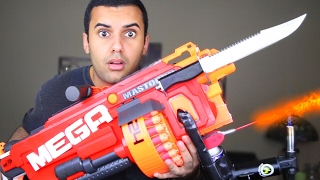 One of ADHD's World's most viewed videos: MOST DANGEROUS TOY OF ALL TIME 3.0!! (EXTREME NERF GUN / ZING BOW EDITION!!) FLAMETHROWER & BAYONET