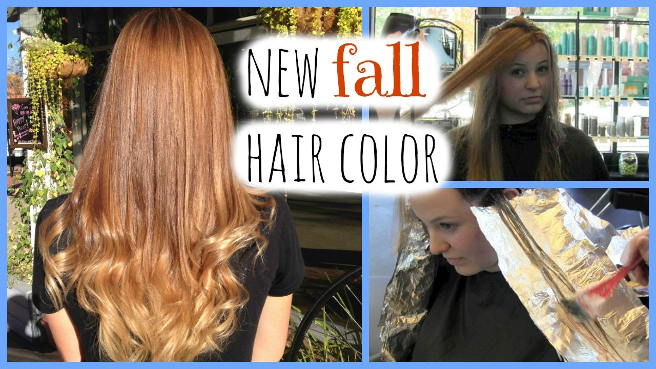 Getting My Hair Colored And Ombred For Fall 2014 Youtube