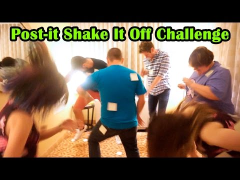 EPIC Post-it Shake It Off Challenge with RadioJh, Chad Alan, Bin's Toy Bin and The Dude with Dolls!