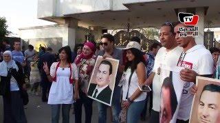 تعليق أنصار مبارك على أزمة «تيران وصنافير» أمام المعادي العسكري