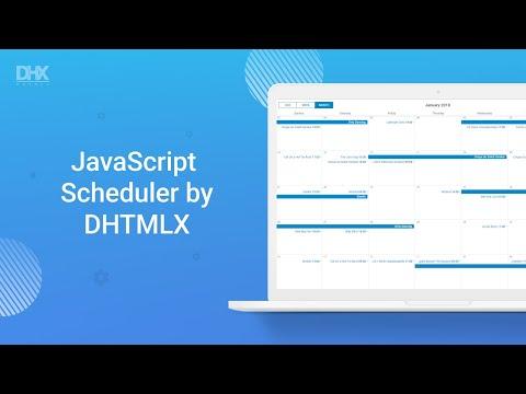 Responsive Javascript Event Calendar - DHTMLX Scheduler