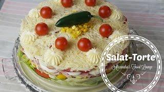 Silvester-Snack/ Partyrezept Salattorte /