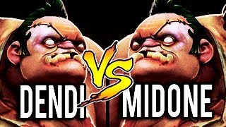 EPIC PUDGE BATTLE OF HISTORY - NaVi Dendi Vs MidOne Dota 2 (MUST WATCH)