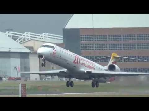Iberia Air Nostrum EC-JNB Canadair Regional Jet take off con logos 20 aniversario