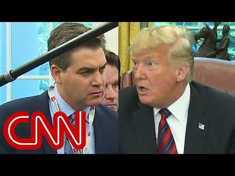 CNN's Jim Acosta presses Trump on his caravan claim