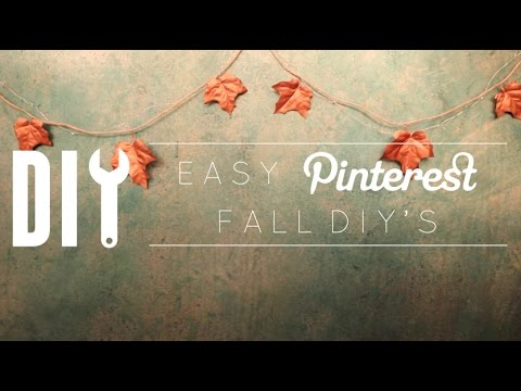 DIY Pinterest Fall Decor & More