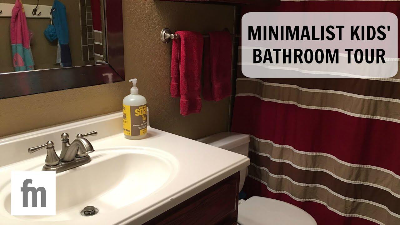 KIDS MINIMALIST BATHROOM TOUR
