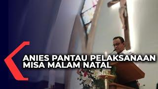 Anies Pantau Misa Malam Natal di Katedral