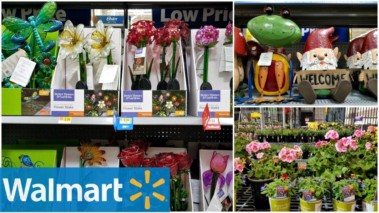 Shop With ME WALMART GARDEN DECOR IDEAS SPRING MARCH 2018 - YouTube