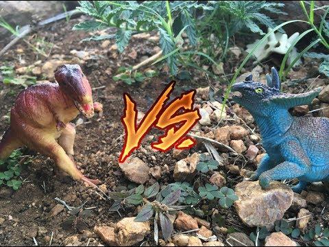 EXTREMELY REALISTIC DINOSAUR FIGHT: Giginotasaurus VS. Bravoceratops