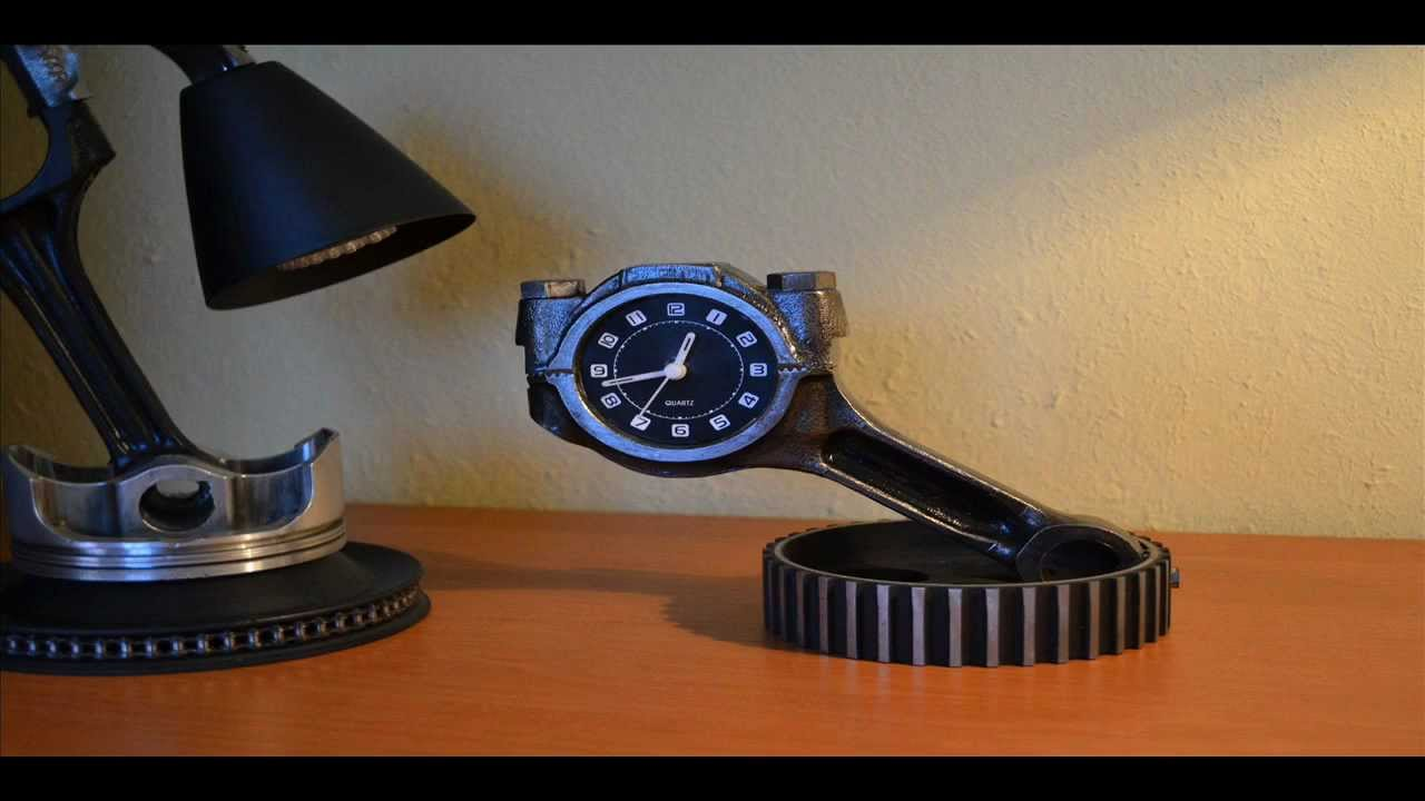 Clock Made From Car Parts