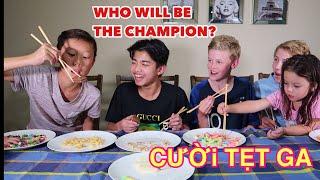 Gambar cover Vlog 299|| THE CHOPSTICKS CHALLENGE ( ANH, ÚC, SINGAPORE VÀ VIỆT NAM CÙNG THỬ THÁCH DÙNG ĐŨA )