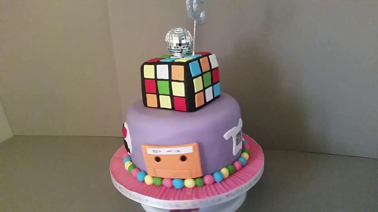 Simply Cakes By Caroline Huddersfield 80s Theme Birthday Cake
