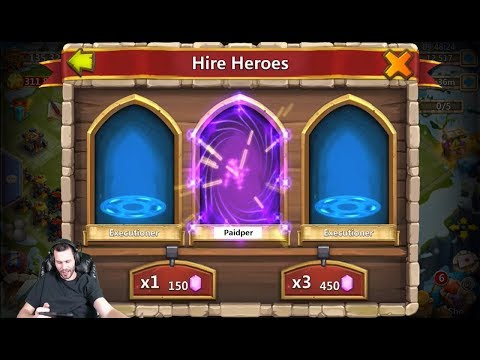 JT's Free 2 Play AMAZING Roll Hire Heroes & Win SPEND ALSO Castle Clash