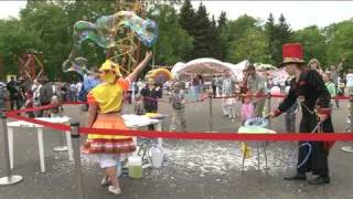 Шоу Мыльных Пузырей на открытом воздухе