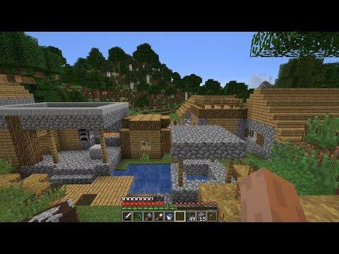 Minecraft Vodeno Preživljavanje - Epizoda 6 - Selo