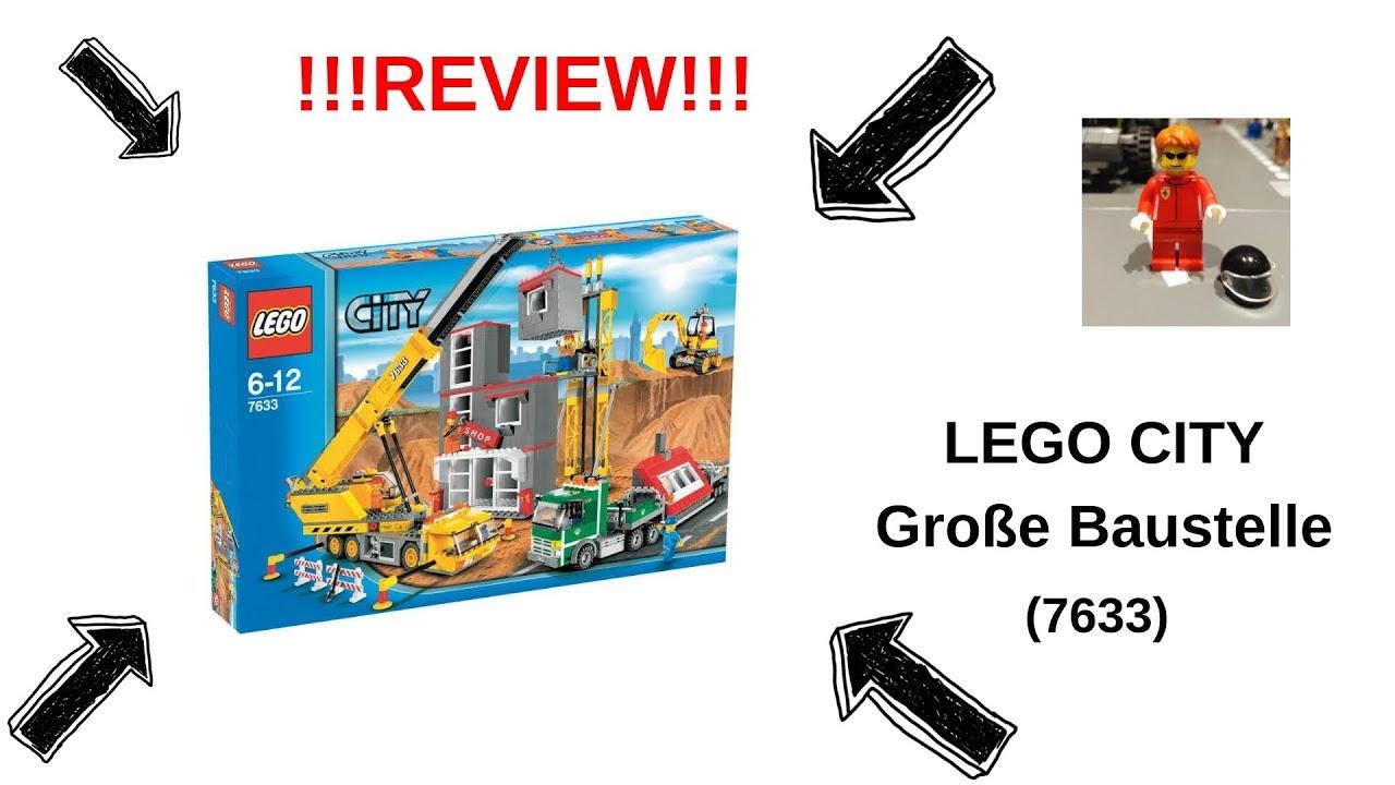 lego® city 7633 große baustelle  review  youtube