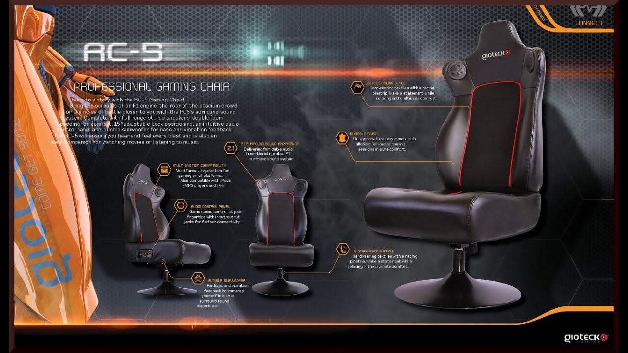 gioteck rc5 gaming chair extra beans for bean bag chairs unboxing review rc 5 pro with 2 1 sound system youtube