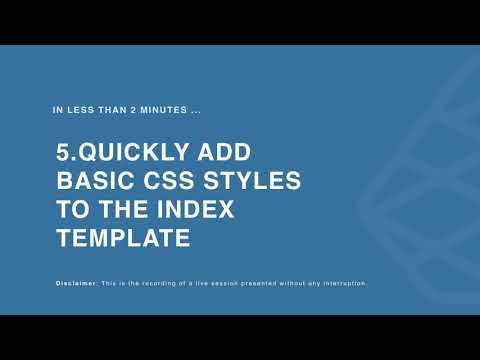 Add Some Simple CSS Styles To Give Some Shape To Your Index Page