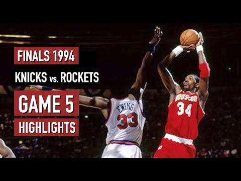 NBA Finals 1994. Game 5 New York Knicks vs Houston Rockets - Full Game Highlights HD