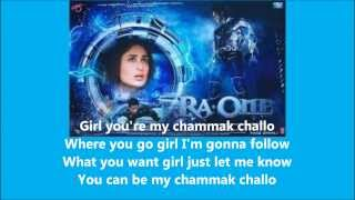 Cover images Chammak Challo ~ Akon feat Hamsika Iyer (Ra One Ost) Lyrics with Eng Sub