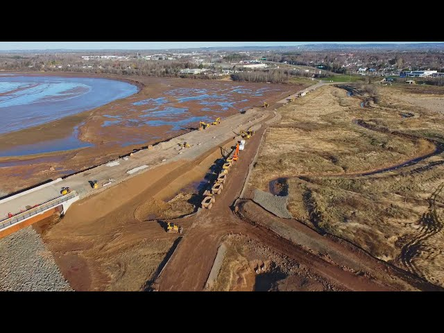 The NEW Riverview Bridge (under construction) and the Tidal Bore!