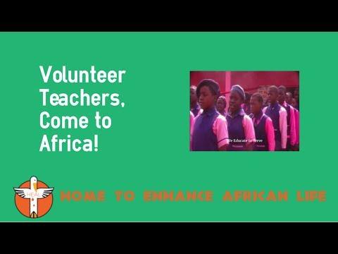 Volunteer Teachers - Come to Africa!