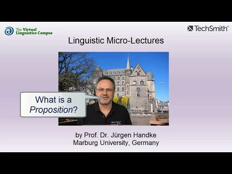 Linguistic Micro-Lectures: Propositions