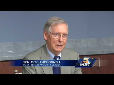 Mitch McConnell's NKY visit met with protest