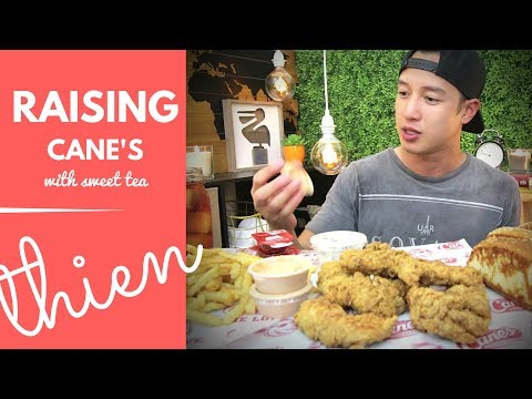 [mukbang with THIEN]: Raising Cane's Pt. 2 (Chicken Fingers with Cane's Sauce and Texas Toast)