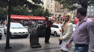Фото Гимн Российской Федерации в центре Праги